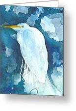 Stormy Egret Greeting Card