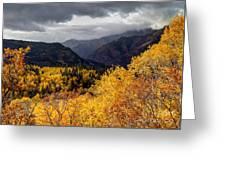 Stormy Fall Along The Alpine Loop - Utah Greeting Card