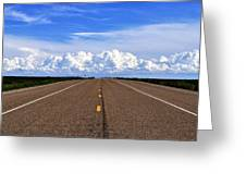 Stormy Highway Greeting Card