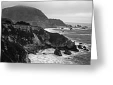 Stormy Hwy 1 Coast Greeting Card by Kathy Yates