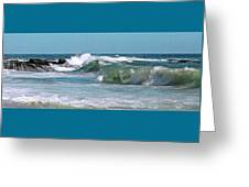 Stormy Lagune - Blue Seascape Greeting Card
