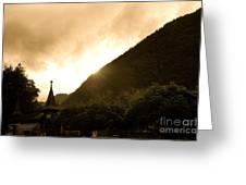 Stormy Light Switzerland Greeting Card