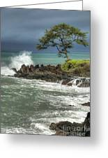 Stormy Maui Morning Greeting Card
