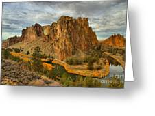 Stormy Over Smith Rock Greeting Card