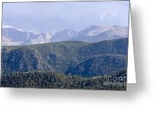 Stormy Pikes Peak Greeting Card