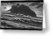 Stormy Rock Greeting Card
