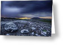 Stormy Rocks Greeting Card