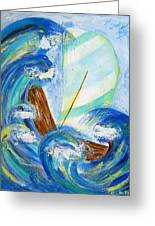 Stormy Sails Greeting Card