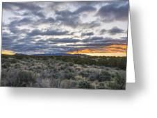 Stormy Santa Fe Mountains Sunrise - Santa Fe New Mexico Greeting Card