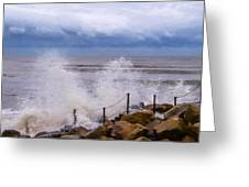 Stormy Seafront - Impressions Greeting Card