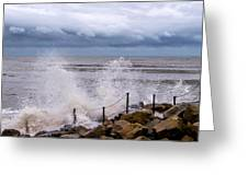 Stormy Seafront  Greeting Card