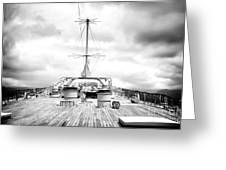 Stormy Ship Greeting Card