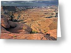 Stormy Skies In Canyonlands Greeting Card