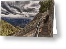 Stormy Skies On Moro Rock Greeting Card