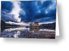 Stormy Skies Over Eilean Donan Castle Greeting Card