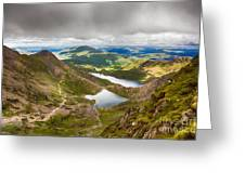Stormy Skies Over Snowdonia Greeting Card by Jane Rix