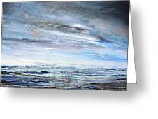 Stormy Sky  Hauxley Haven Series Blue Greeting Card