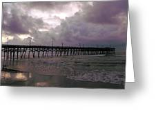 Stormy Sky In Myrtle Beach Greeting Card