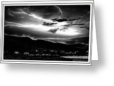 Stormy Sky - Lightening - Small Town Greeting Card