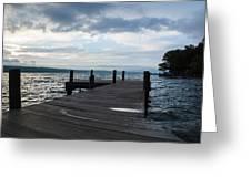 Stormy Sky Over Seneca Lake Greeting Card