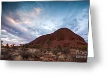 Stormy Sky Over Uluru Greeting Card