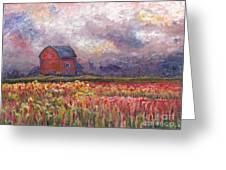 Stormy Sunflower Farm Greeting Card