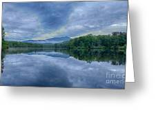 Stormy Sunrise Over Price Lake - Blue Ridge Parkway I Greeting Card by Dan Carmichael