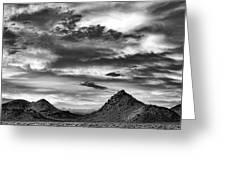 Stormy Sunset Over Nevada Desert Greeting Card