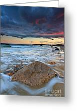 Stormy Sunset Seascape Greeting Card