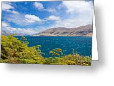 Stormy Surface Of Lake Wanaka In Central Otago On South Island Of New Zealand Greeting Card