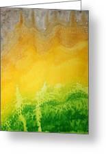 Stormy Mesa Original Painting Greeting Card