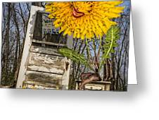 Story Time Greeting Card by Nancy Strahinic