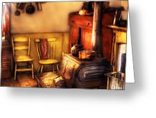 Stove - An Old Farm Kitchen Greeting Card