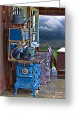 Stove - Appliance - Cooker - Kitchen  Greeting Card