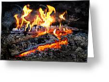 Stove - The Yule Log  Greeting Card