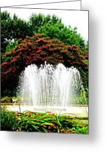 Stowe Fountain 2 Greeting Card