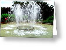 Stowe Fountain 3 Greeting Card