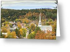 Stowe Vermont Aerial Greeting Card