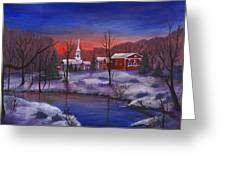 Stowe - Vermont Greeting Card by Anastasiya Malakhova