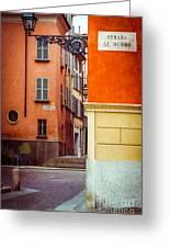 Strada Al Duomo Duomo Street Greeting Card