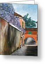 Strada Di Rivoli Greeting Card
