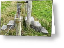Straddle The Fence Greeting Card