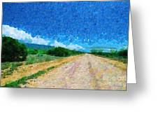 Straight Road In Ethiopia Painting Greeting Card