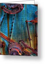 Strained Gears  Greeting Card