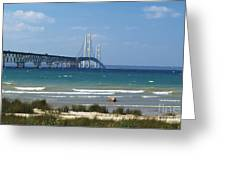 Straits Of Mackinac Greeting Card