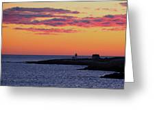 Straitsmouth Lighthouse Sunrise Greeting Card