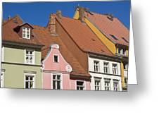 Stralsund Roofs. Greeting Card by David Davies