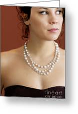 Strand Of Pearls Greeting Card by Margie Hurwich