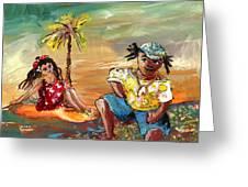 Stranded In Tahiti Greeting Card