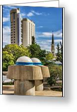 Strange Buenos Aires Architecture Tilt Shift Greeting Card